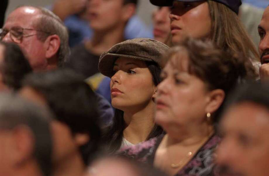 "SPORTS - Eva Longoria, television star from the show ""Desperate Housewives,"" was at the SBC Center to watch her alleged boyfriend, Tony Parker of the San Antonio Spurs,in NBA playoffs action against the Denver Nuggets on Sunday, April 24, 2005. BILLY CALZADA / STAFF Photo: BILLY CALZADA, SAN ANTONIO EXPRESS-NEWS / SAN ANTONIO EXPRESS-NEWS"