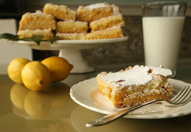 Lemon bars can be lightened by decreasing the butter and sugar.