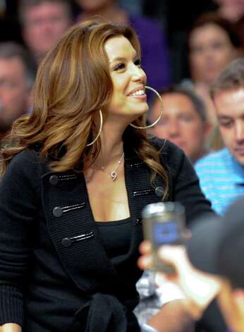 Actress Bridget Eva Longoria Parker attends an NBA basketball game against the San Antonio Spurs and the Los Angeles Lakers, Monday, Feb. 8, 2010, in Los Angeles. The Lakers won 101-89. Photo: AP
