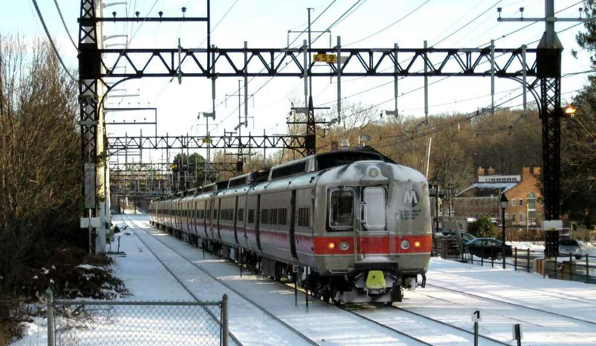 The oldest of the M-2 rail cars that Metro North uses on its New Haven line are 39 years old, and they should have been retired about a decade ago. Breakdowns are frequent, particularly when it snows. This northbound M-2 train is near the Southport railroad station on Tuseday December 28, 2010.