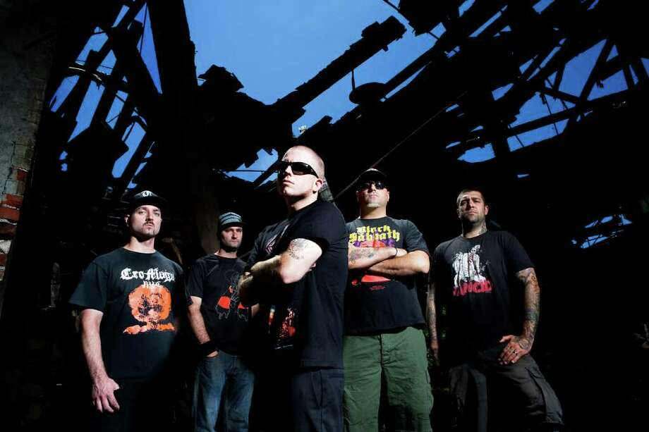 Jamey Jasta, center, and Hatebreed will bring their Stillborn Fest to the Webster Theatre in Hartford Thursday night, Dec. 30. Photo: Contributed Photo / Connecticut Post Contributed