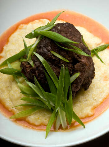 The Beef Cheeks and Grits dish at The Monterey, 1127 S. St. Mary's St., evokes Beef Bourguignon. 