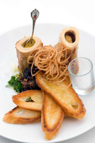 Bone appétit! The bone marrow dish is for the more-adventurous diner.