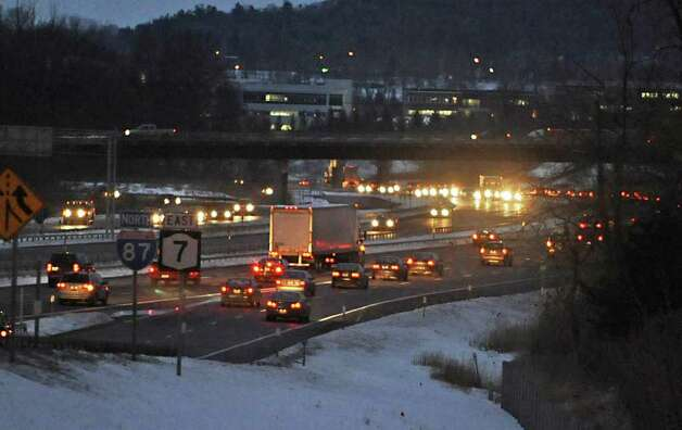 Commuters use I-87 in Latham to travel home from work on December 28, 2010. (Lori Van Buren / Times Union) Photo: Lori Van Buren