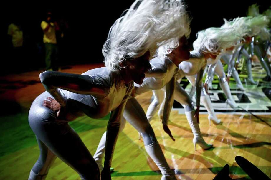 SPORTS - The Spurs Silver Dancers performs during pregame activities in their season opener vs. the Suns Wednesday, October 29, 2008 at the AT&T Center. BAHRAM MARK SOBHANI/msobhani@express-news.net Photo: BAHRAM MARK SOBHANI, SAN ANTONIO EXPRESS NEWS / SAN ANTONIO EXPRESS NEWS