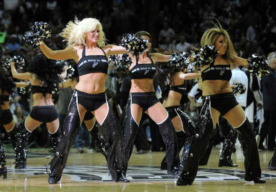 Spurs Silver Dancers perform at the Lakers game at the AT&T Center in San Antonio, Texas on Thursday, March 12, 2009. Express-News Photo/Marc J. Kawanishi, MarcK@Express-News.Net Photo: Marc J. Kawanishi, San Antonio Express-News
