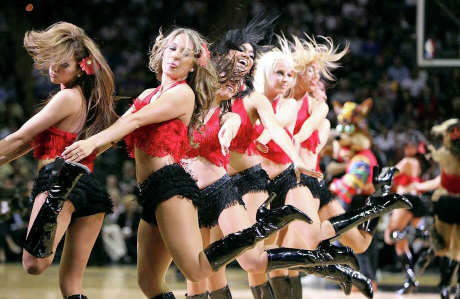 FOR SPORTS - Spurs' Silver Dancers peforms during first half action against the Lakers Wednesday March 24, 2010 at the AT&T Center. Photo: EDWARD A. ORNELAS, SAN ANTONIO EXPRESS-NEWS / eaornelas@express-news.net