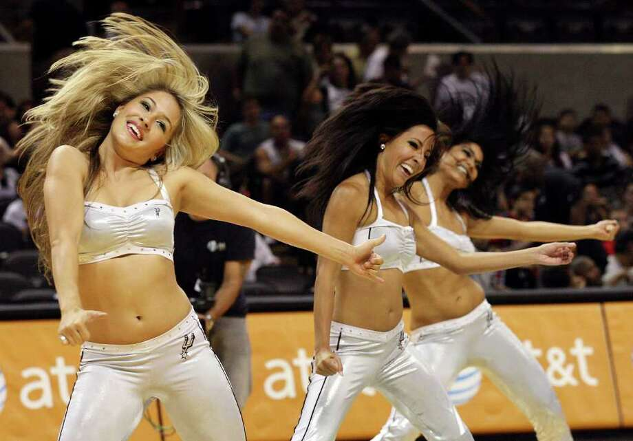 FOR SPORTS - Members of the Spurs Silver Dancers perform during the Silver-Black scrimmage Sunday Oct. 3, 2010 at the AT&T Center. Photo: EDWARD A. ORNELAS, SAN ANTONIO EXPRESS-NEWS / eaornelas@express-news.net
