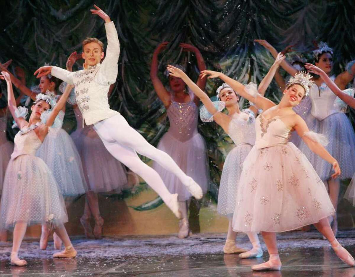 Joseph Heitman, 15 of Milford, dances during the New England Ballet's performance of the Nutcracker at Parson's Complex in Milford on Sunday, December 19, 2010.
