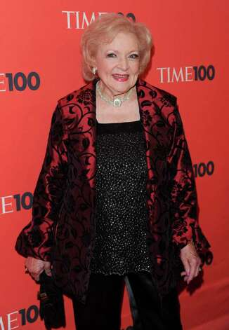 Actress Betty White attends the TIME 100 gala celebrating the 100 most influential people, at the Time Warner Center, Tuesday, May 4, 2010 in New York. (AP Photo/Evan Agostini) Photo: Evan Agostini, FRE / San Antonio Express-News