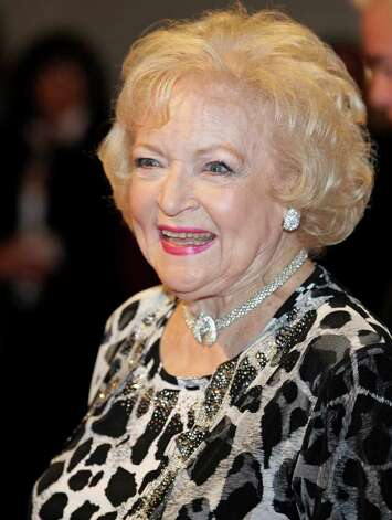 Actor Betty White arrives at the Kennedy Center for the Mark Twain Prize for Humor awards show in Washington, Tuesday, Nov. 9, 2010. The prize was awarded to Tina Fey. (AP Photo/Cliff Owen) Photo: Cliff Owen, FRE / FR170079 AP