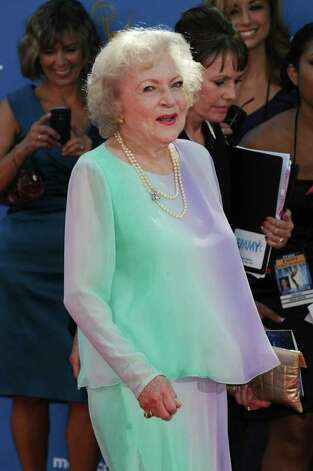 LOS ANGELES, CA - AUGUST 29:  Actress Betty White arrives at the 62nd Annual Primetime Emmy Awards held at the Nokia Theatre L.A. Live on August 29, 2010 in Los Angeles, California.  (Photo by Frazer Harrison/Getty Images) Photo: Frazer Harrison, Staff