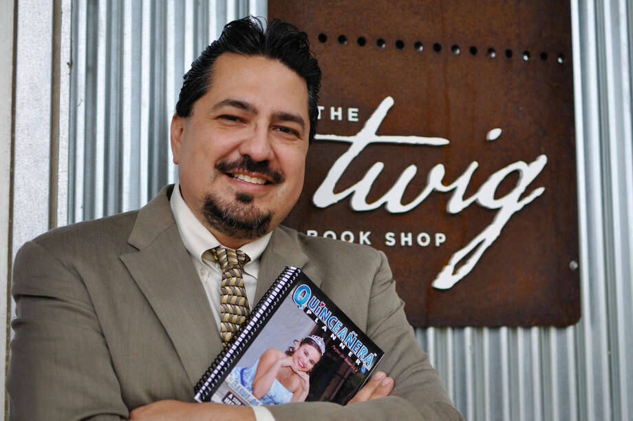 Steve Valdez recently penned a planner for girls looking toward their quinceaneras, or 15th birthday parties. The planner, which also contains originally photography by Valdez, is being sold at The Twig Book Shop. Photo by Melissa Vela-Williamson