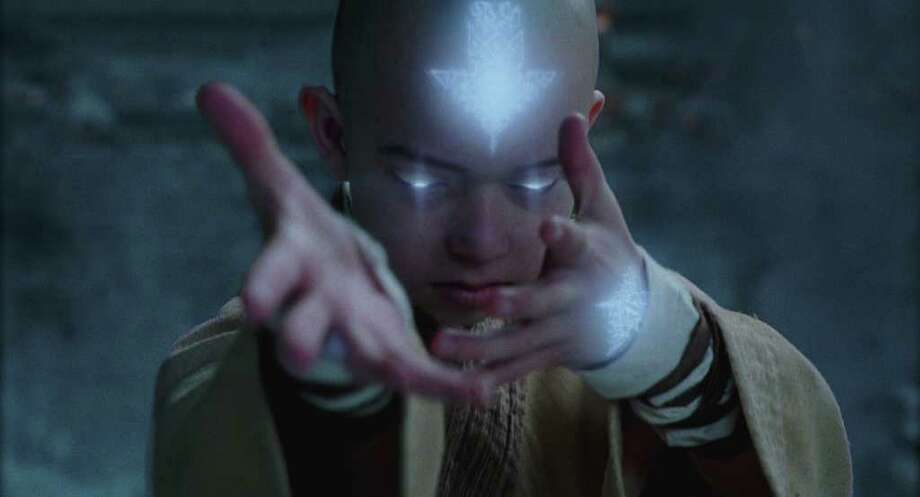 "Noah Ringer plays Aang in ""The Last Airbender,"" one of this year's worst movies. Photo: Paramount Pictures"