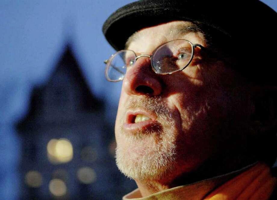 Jack Carroll, of Cohoes attends the vigil. (Luanne Ferris/Times Union) Photo: Luanne M. Ferris