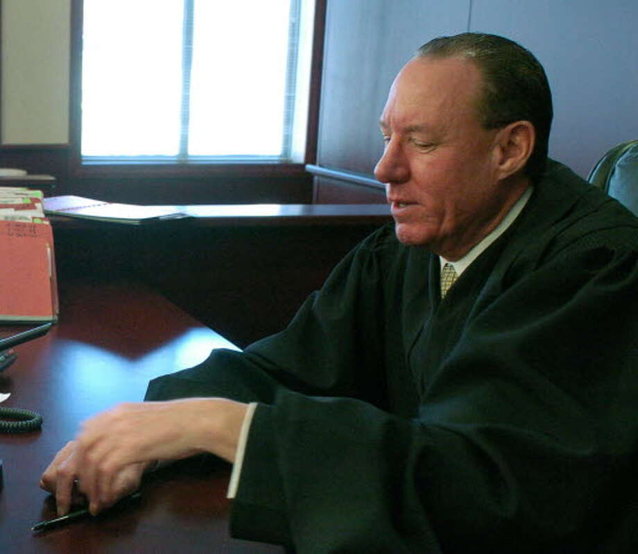 Albany County Family Court Judge Gerard Maney in his courtroom on Monday, March 6, 2006. (Paul Buckowski / Times Union)