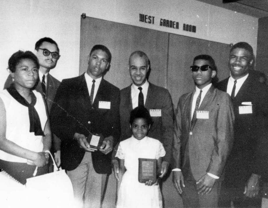 Roy Wilkins was taken in 1966 when Mrs. Tisdale received the awards referred to in her obituary. From left to right are: Loyse Tisdale, Joel Kent (Bpt. NAACP), William Chandler (Bpt. Youth Council President), the legendary Roy Wilkins (Executive Director, National NAACP), Preston Tisdale, James Tisdale...and the little girl in front is me, Maisa Tisdale! Photo: Contributed Photo / Connecticut Post Contributed
