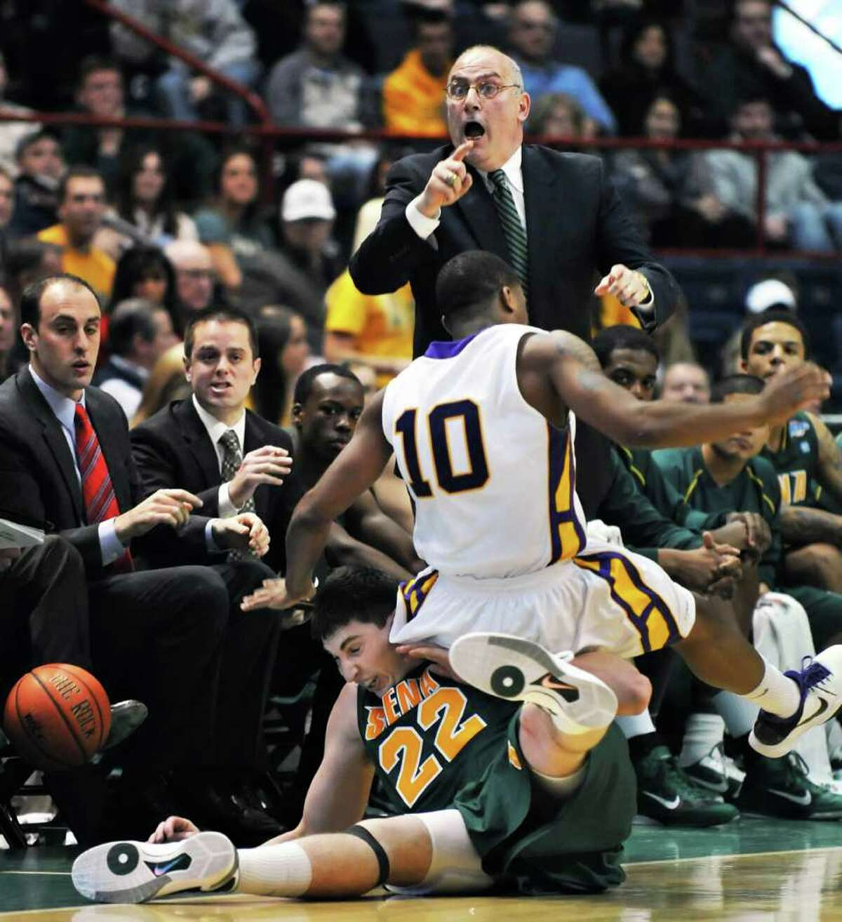 7. Siena successor found a few seats down. After Fran McCaffery departed for Iowa, Siena conducted a nationwide search before selecting longtime McCaffery assistant Mitch Buonaguro to take over the men?s basketball program.