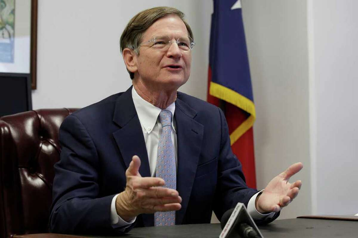 METRO -- U.S. Representative Lamar Smith, R-Tx, hold a press conference at his office at 1100 NE Loop 410, Monday, Dec. 13, 2010. The congressman spoke of his priorities as incoming Chairman of the House Judiciary Committee. JERRY LARA/glara@express-news.net