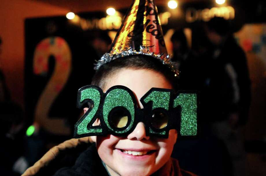 Jacob Walters, 8, of Tabernacle, N.J. is dressed for the occasion during First Night festivities on Friday in Saratoga Springs. (Cindy Schultz / Times Union) Photo: Cindy Schultz