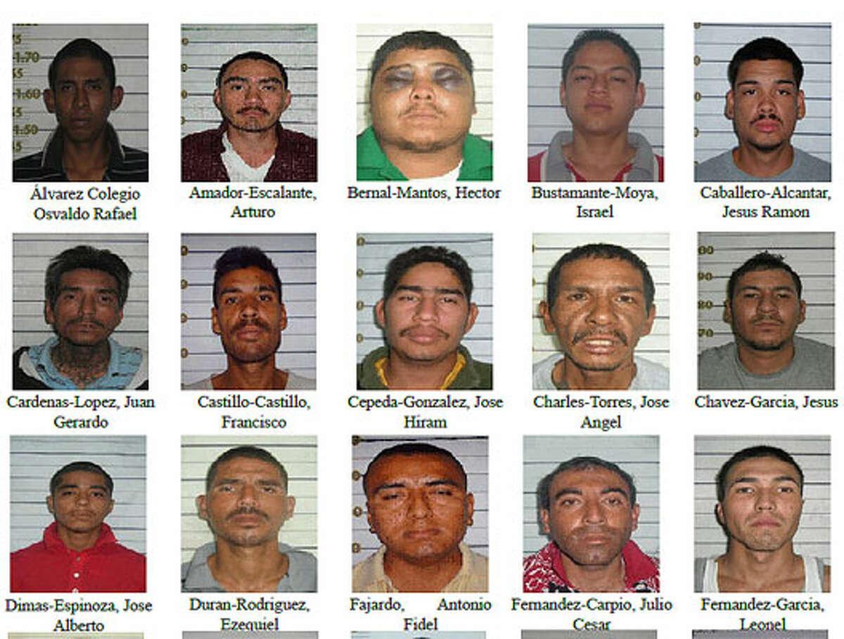 Mexico released pictures of the 151 men who escaped a Nuevo Laredo prison in December.