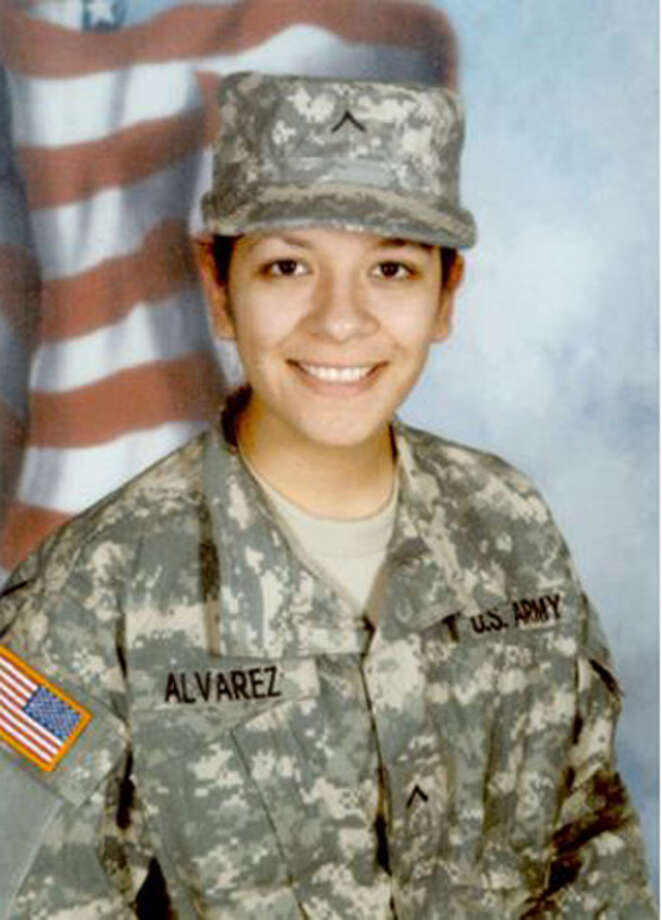 Army Pfc. Adriana Alvarez was the first woman from the Rio Grande Valley to die in the war in Iraq. She died while supporting combat operations in Baghdad on Feb. 10, a few months after coming home to San Benito to celebrate her 20th birthday. Photo: Courtesy Photo/Express-News