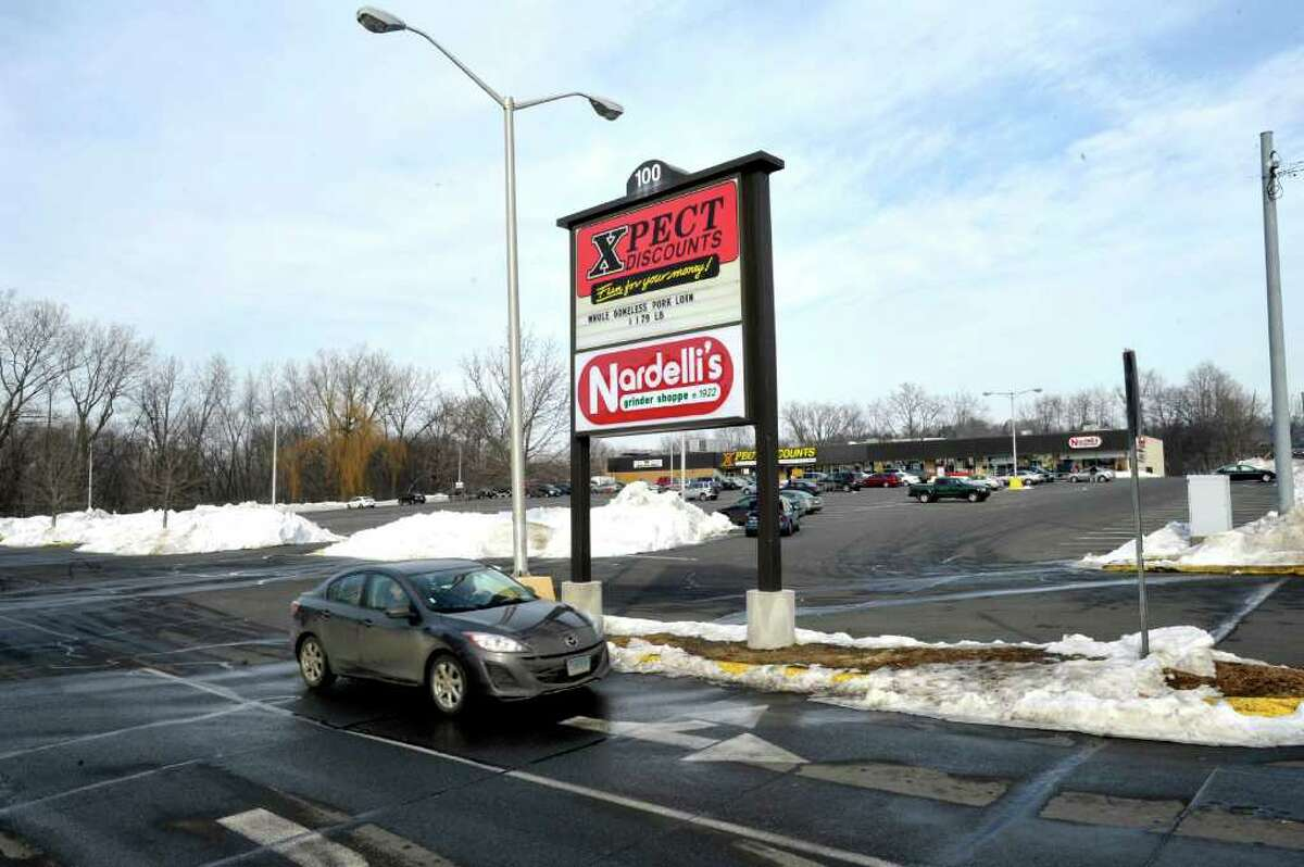 Sonic, a fast food drive-in restaurant, will be constructed in the parking lot of Xpect Discounts in Danbury. Photographed Saturday, Jan. 1, 2011.