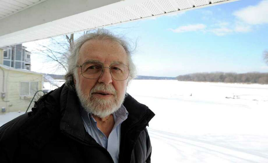 Frank L. Visco is due in Colonie Town Court on Monday to answer a Canal Corp. summons after he failed to obtain a state beautification permit for his ?use? of  state canal shoreline on the Mohawk River. (Skip Dickstein/Times Union) Photo: Skip Dickstein