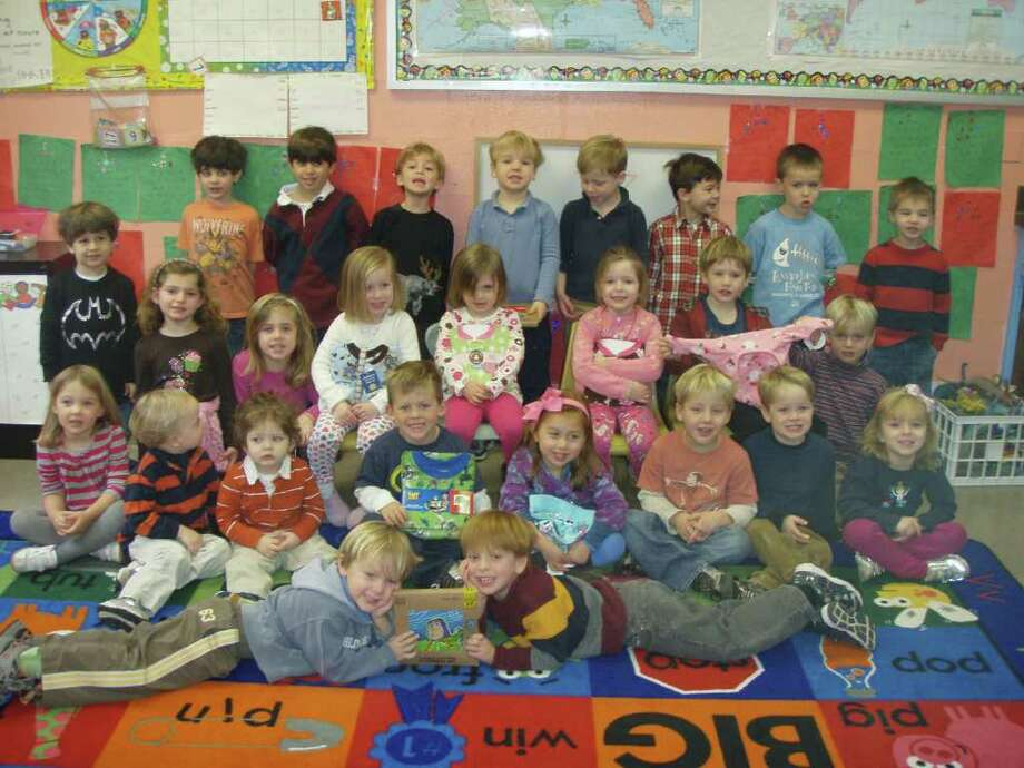 Holly Pond School students pictured are, from left, front row, Lachlan Moffatt, Luke Zerbe; second row, Elle George, Brooks Milazzo, Zachary Bell, Preston Hidy, Julia Decsi, William Hopper, Aiden Smith, Annie Genovese; third row, Reese Wilson, Lily Carre, Samantha Veeder, Emma Combs, Gretchen Barnard, Rex Kelley, John Bredahl; fourth row, Miles Lefkowitz, Montgomery Hahn, Anson Sikora, Peter Canelli, Carter Hagen, Bobby Callagy, Jack Pavolonis, Ronan Mirsky and Henry Burgess. Photo: Contributed Photo / Darien News