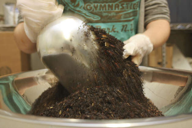 Linda Smith's organic tea business has grown from its humble beginnings, when a four-tea selection was blended in her Schenectady home. Today, 300 teas are distributed all over North America, using exotic ingredients from around the world. (Paul Barrett/Life@Home) Click here to read the story.
