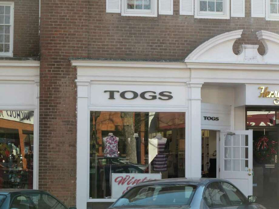 Togs has been the victim of two larcenies in the past few months. Photo: Contributed Photo / New Canaan News