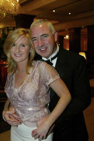 Irish developer Sean Dunne and his wife Gayle Killilea, a former gossip columnist, are shown st the Sunday Independent/Irish Nationwide Person of the Year Awards in this undated photo. (Photo by Julien Behal) Photo: Contributed Photo / Greenwich Time Contributed