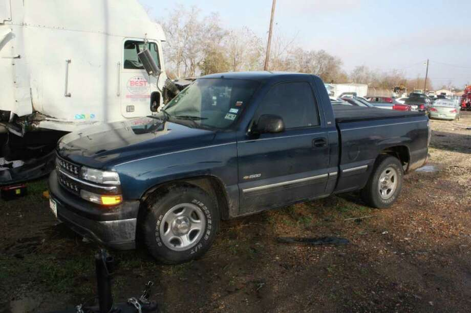 Beaumont police are looking for two men who stole this 2000 Chevrolet pickup before abandoning it. Photo provided by the Beaumont Police Department.