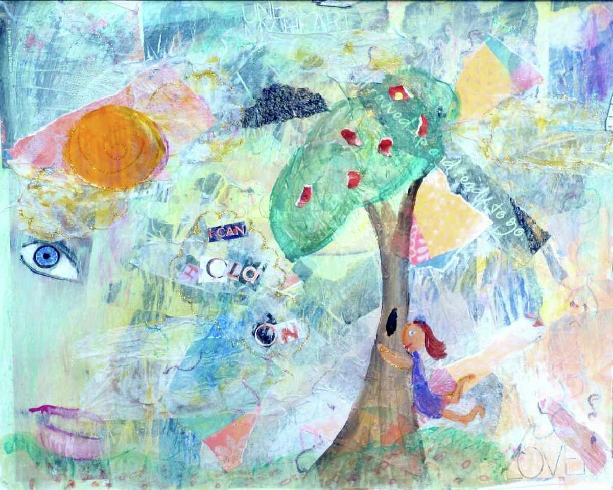 This painting by Amy Oestreicher will be featured in a Westport showing of her art work Sunday.