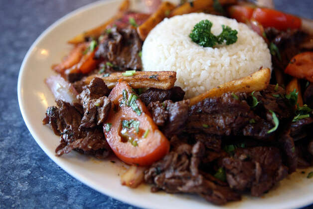 Lomo SaltadoRocotos Sabor Latino, 10555 Culebra Road, 210-521-4367 This is Peruvian soul food, and it's a dish that provides some insight to the heart of that country's cuisine. Marinated beef strips, stir-fried with sliced onions and red peppers, are tossed with french fries and served with white rice. It's the familiar taste of meat and potatoes cooked in a totally unfamiliar way; Western ingredients cooked in an Eastern style. It's a very tasty metaphor for the way that cultures have blended in Peru, and it's one of many in a strong menu. HELEN L. MONTOYA/hmontoya@express-news.net