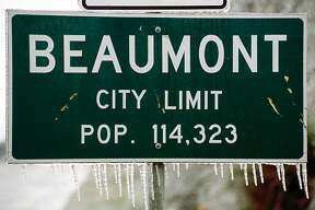 The January, 1997 ice storm in Southeast Texas left icicles in unlikely places. Enterprise file photo
