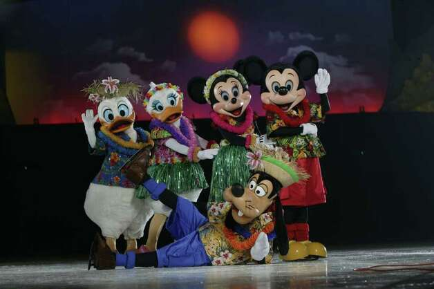 "Mickey and friends visit Hawaii in the Disney on Ice production of ""Mickey & Minnie's Magical Journey"" coming to Bridgeport for 10 performances Jan. 12-17. Photo: CONTRIBUTED PHOTO"