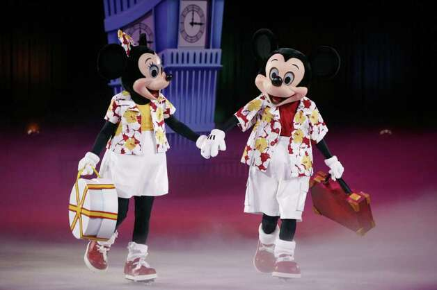 "Mickey and Minnie set out on an adventure around the world in Disney on Ice's ""Magical Journey,"" which comes to Bridgeport for 10 performances Jan. 12-17. Photo: CONTRIBUTED PHOTO"