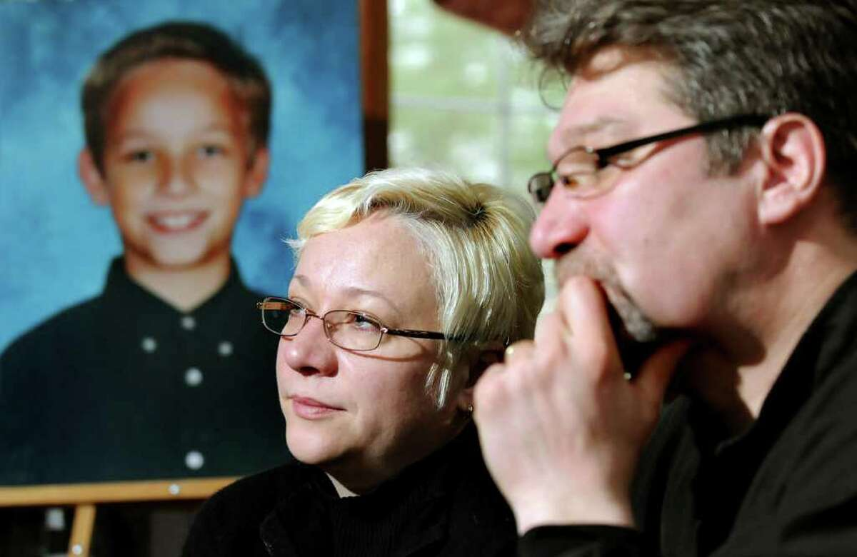 Oxsana and Yuri Naumkin of Wilton talk about Nicholas, their son who was killed Dec. 22, 2010, after a friend shot him accidentally with a handgun. (Cindy Schultz / Times Union archive)