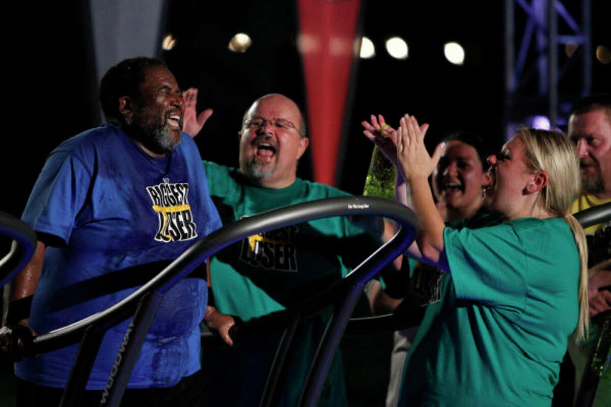THE BIGGEST LOSER -- Episode 1101 -- Pictured: (l-r) Jesse Wornum, Jay Jacobs, Jennifer Jacobs -- Photo by: Trae Patton/NBC
