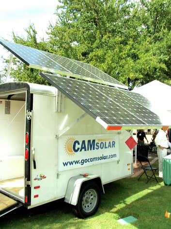 The president of CAM Solar has offered a $2,500 reward for information about this trailer. Photo: Courtesy Photo/Express-News