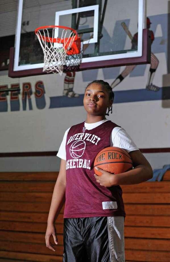 Watervliet center Lashana Tolliver says she has a greater commitment to her girls' basketball teammates in her sophomore year. (Lori Van Buren / Times Union) Photo: Lori Van Buren