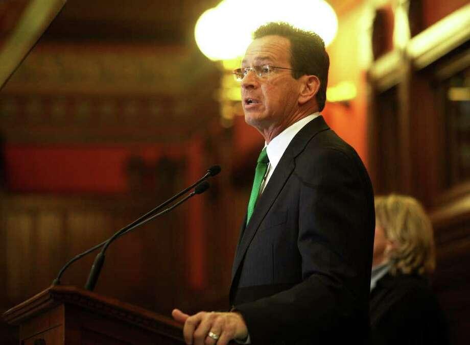 New Connecticut Governor Dannel Malloy addresses a joint session of the Connecticut General Assembly after his inauguration in Hartford on Wednesday, January 5, 2011. Photo: Brian A. Pounds / Connecticut Post