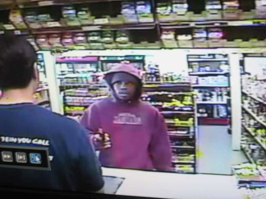 A man in a red hoodie attempted to rob the T-One-Stop at 4590 Park St. in Beaumont at gunpoint on Thursday. He left without taking anything. Teresa Mioli/ The Enterprise