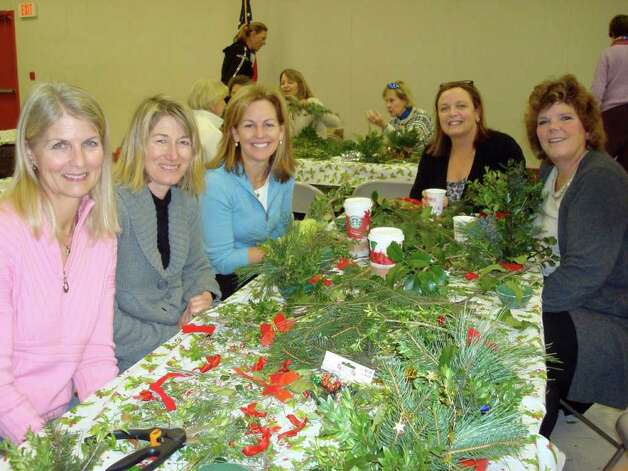 Cindy Ryan (president of the Garden Club of Darien), Danielle Granath, Betsy Becker, Susan Massimillo and Emily D'Andrea. Photo: Contributed Photo / Darien News