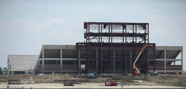 The BISD Muitli-Purpose Complex Center is expected to be game ready for the 2010 football season. All three high school's will use the facility. The project is on schedule and turf installation is scheduled for late May or early June. The onsite natatorium is expected to be complete in November while remaining site work is said to be done by December 2010. Guiseppe Barranco/The Enterprise Photo: Guiseppe Barranco / Beaumont