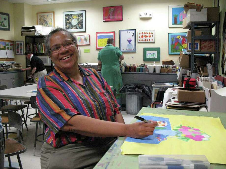 "Alice Dubois is one of the artists with disabilities whose work will be showcased at an exhibit, ""CHANGE,"" at the Fairfield Arts Council from Jan. 14 through Feb. 19. Photo: Contributed Photo / Fairfield Citizen contributed"
