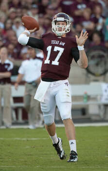 Texas A&M quarterback Ryan Tannehill led the Aggies to six straight wins after taking over for senior Jerrod Johnson at Kansas on Oct. 23. Photo: DAVE EINSEL, ASSOCIATED PRESS / AP2010