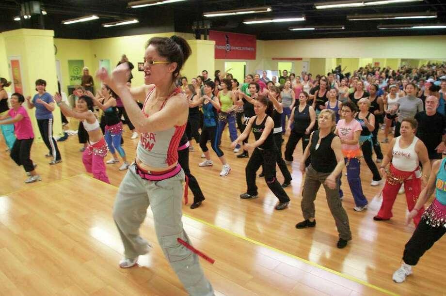 Emm Koteka-Wiki recently opened Studio M Dance & Fitness in Norwalk, where she teaches zumba. Photo: Contributed Photo / Norwalk Citizen