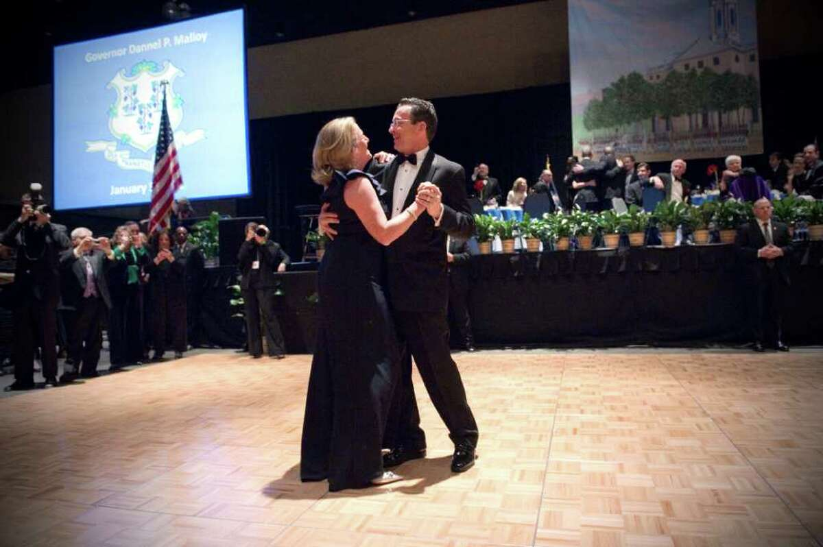 Governor Dannel P. Malloy and his wife Cathy share their first dance during the 2011 Inaugural Ball honoring Connecticut's 88th Governor to the tune of Frank Sinatra's